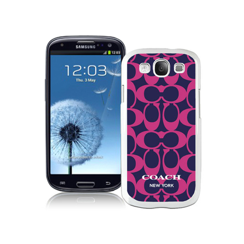 Coach Big Logo Fuchsia Navy Samsung Galaxy S3 9300 CAN