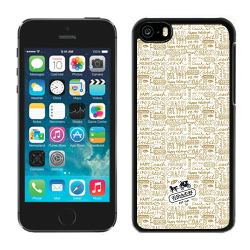 Coach Fashion Logo Khaki iPhone 5C Cases DQY