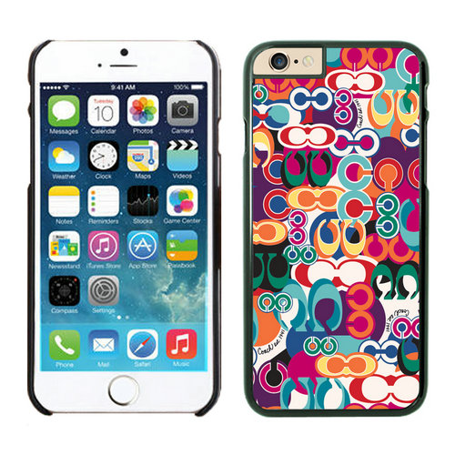 Coach Fashion Monogram Multicolor iPhone 6 Cases EZV