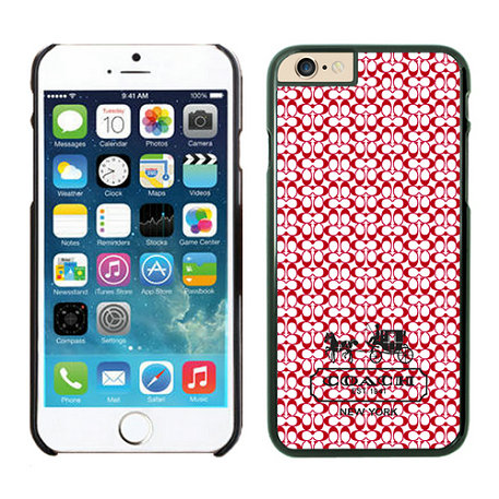 Coach In Confetti Signature Red iPhone 6 Cases EYR