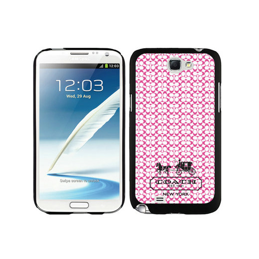Coach In Confetti Signature Pink Samsung Note 2 Cases DTK