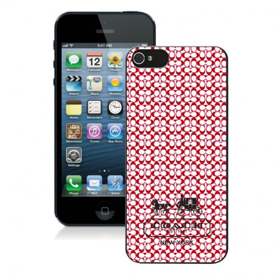 Coach In Confetti Signature Red iPhone 5 5S Cases AJC