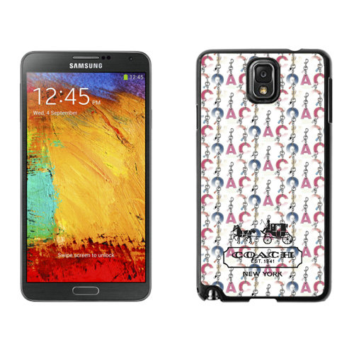 Coach Logo Monogram Multicolor Samsung Note 3 Cases DSM
