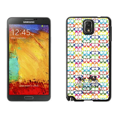 Coach Logo Multicolor Samsung Note 3 Cases DSB