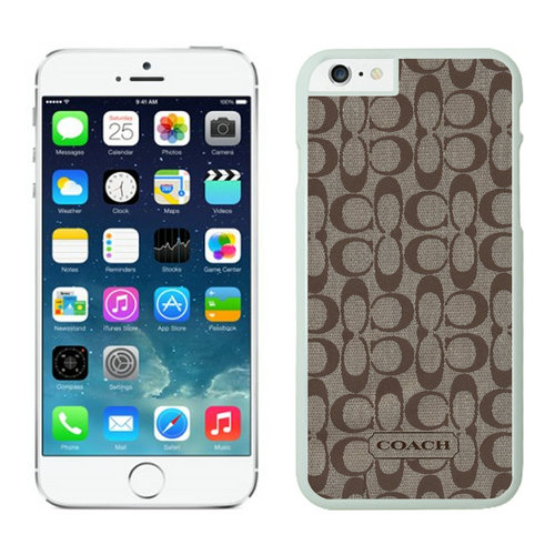 Coach Logo Signature Beige iPhone 6 Cases FAC