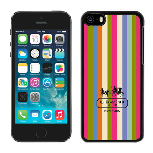 Coach Stripe Multicolor iPhone 5C Cases DRD