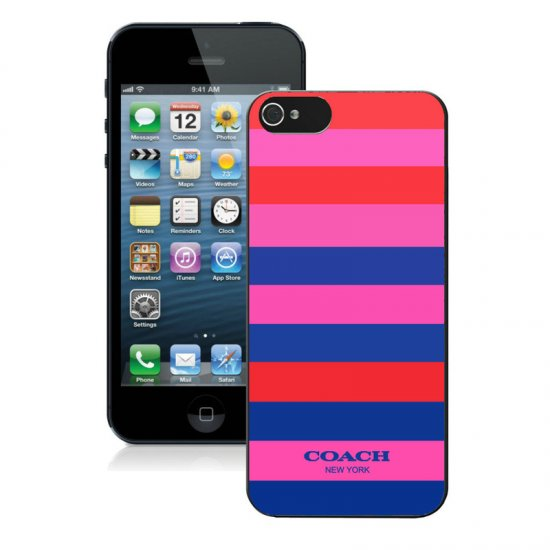 Coach Stripe Multicolor iPhone 5 5S Cases AIU