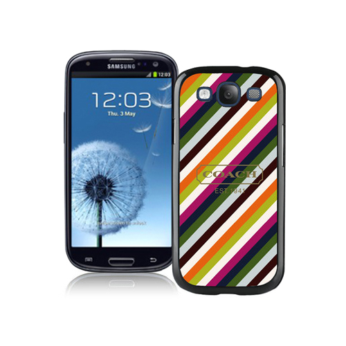 Coach Stripe Multicolor Samsung Galaxy S3 9300 BHB