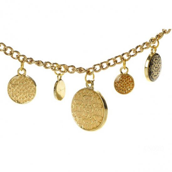 Coach Circles Gold Necklaces CYQ