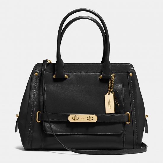 COACH SWAGGER FRAME SATCHEL IN CALF LEATHER