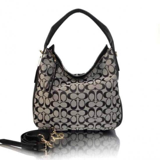 TURNLOCK TOTE IN SIGNATURE JACQUARD