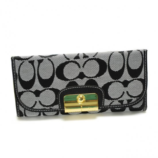 Coach Kristin In Signature Large Grey Wallets DVM