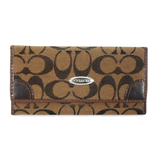 Coach Legacy Slim Envelope Large Brown Wallets EES