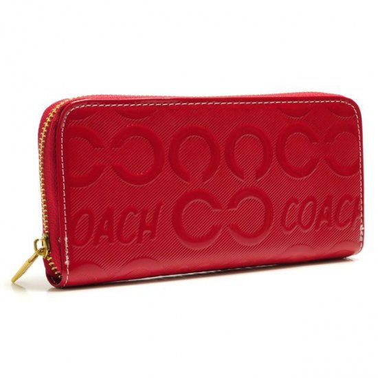 Coach Logo Large Red Wallets BCX