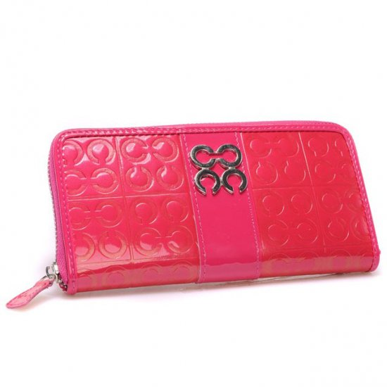 Coach Logo Monogram Large Pink Wallets CHP