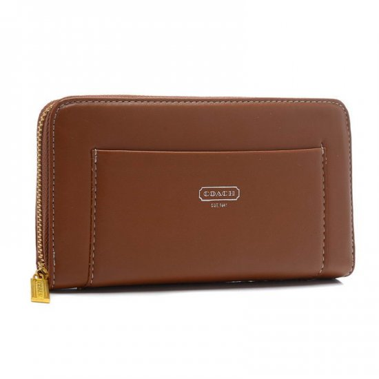 Coach Madison Accordion Saffiano Large Brown Wallets EGF