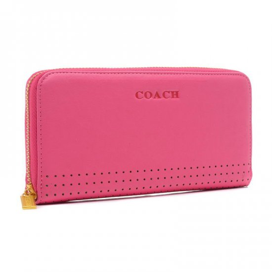 Coach Madison Perforated Large Pink Wallets BVZ