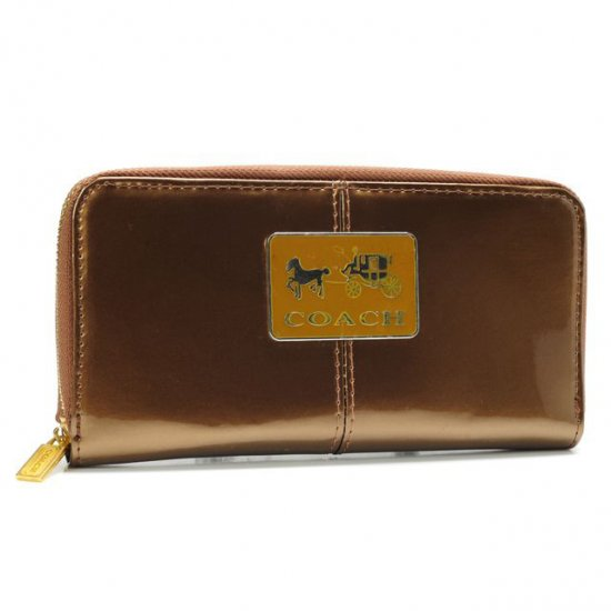 Coach Madison Smooth Large Gold Wallets AHB
